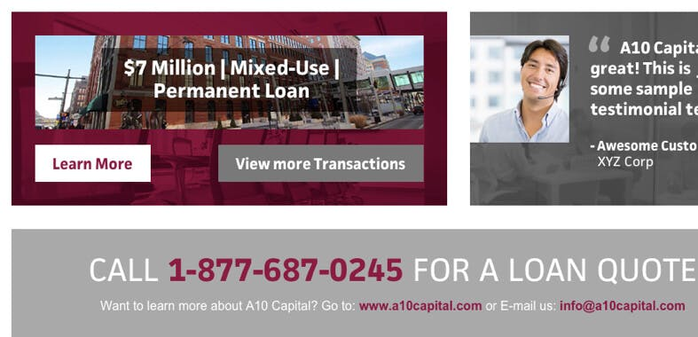A10 Capital Work Example #3